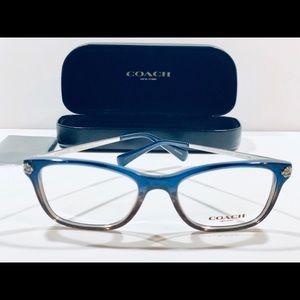 COACH Women's Eyeglasses Denim Glitter Gradient